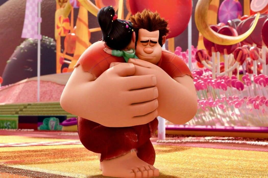 Ralph and Vanellope hug