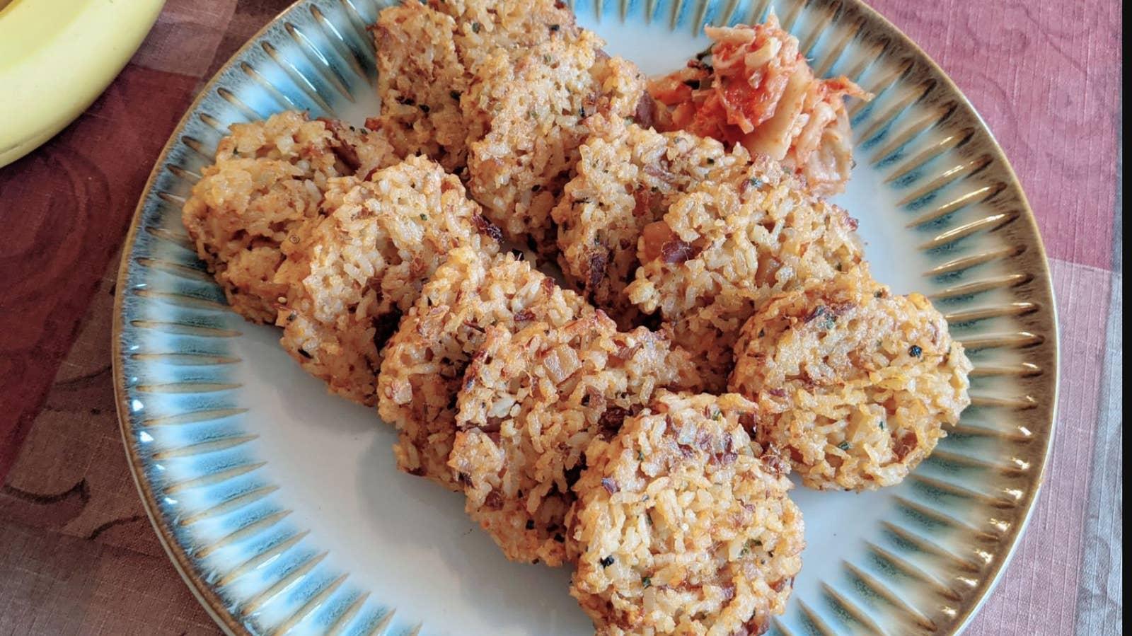 Baked Tuna Rice Pancake