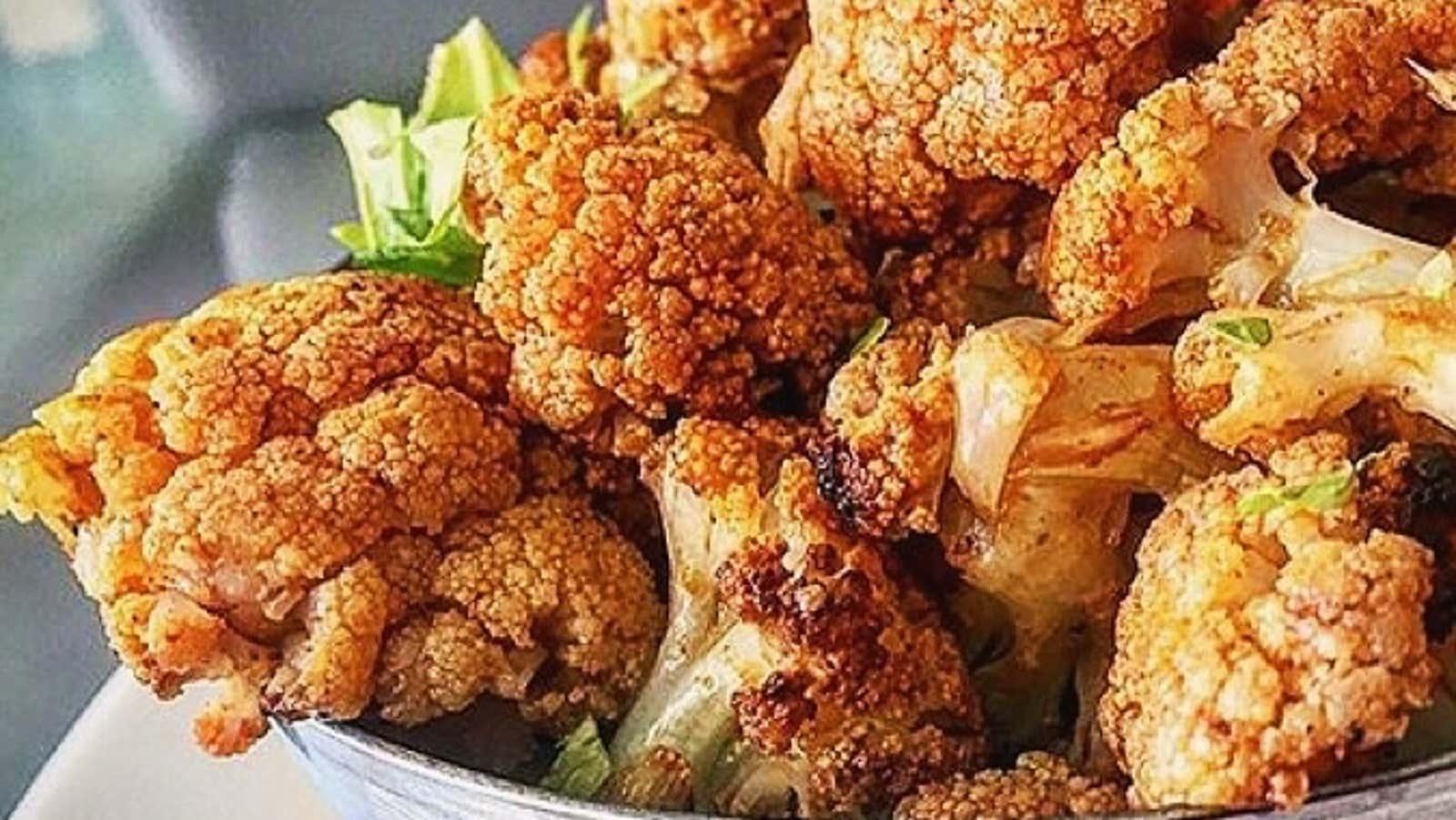 Super Easy Roasted Spicy Cauliflower