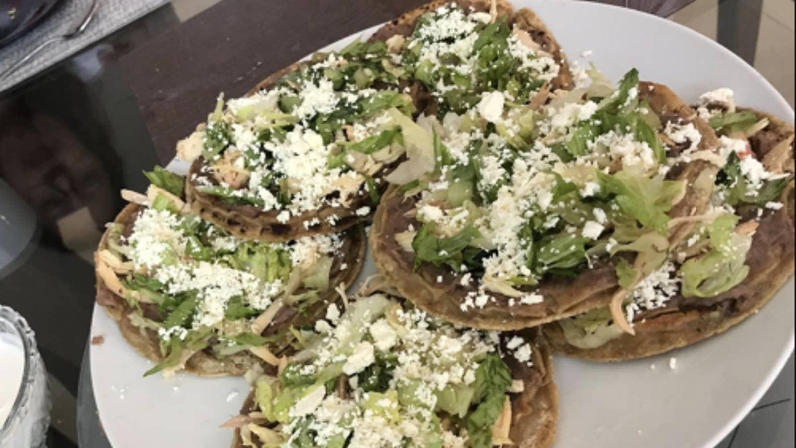 Mexican Tostadas De Pollo