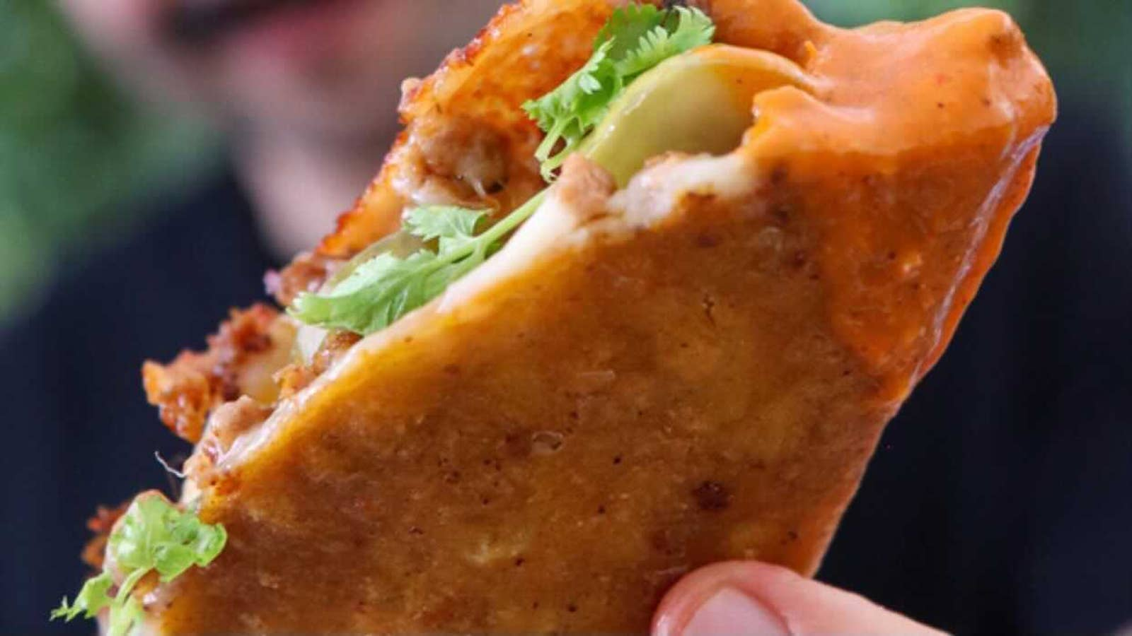Crispy Chorizo & Cheese Taco-Quesadillas With Simple Salsa