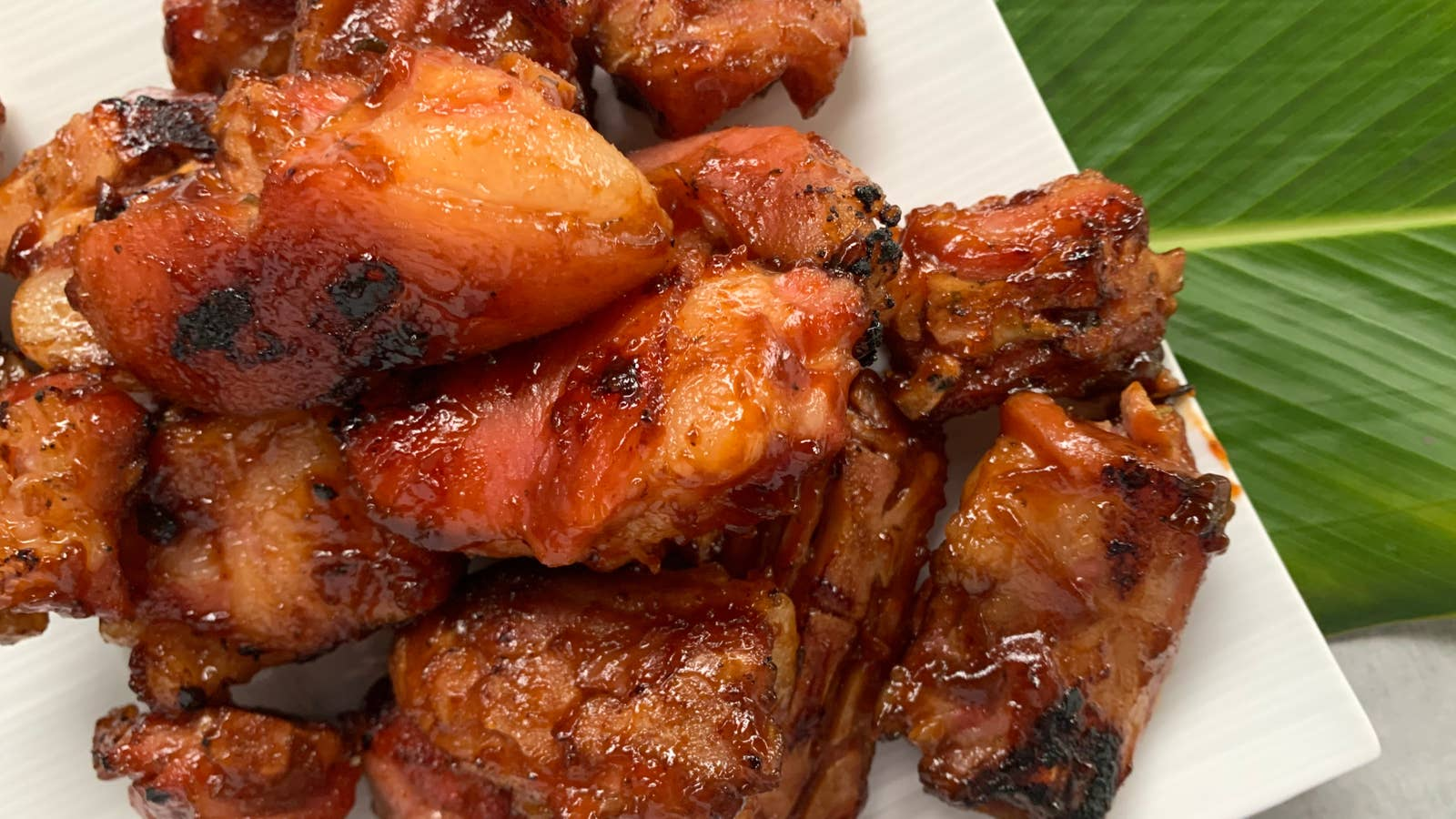 Jamaican Rum-Glazed BBQ Pig's Tail