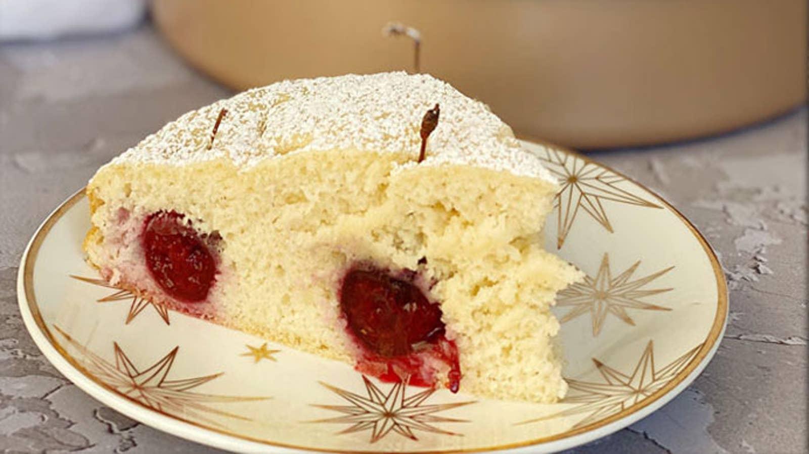 Cherry Pancake Cake