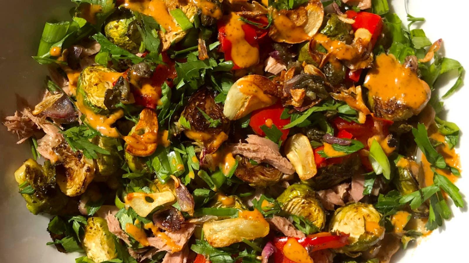 Veggie Roast And Tuna Salad