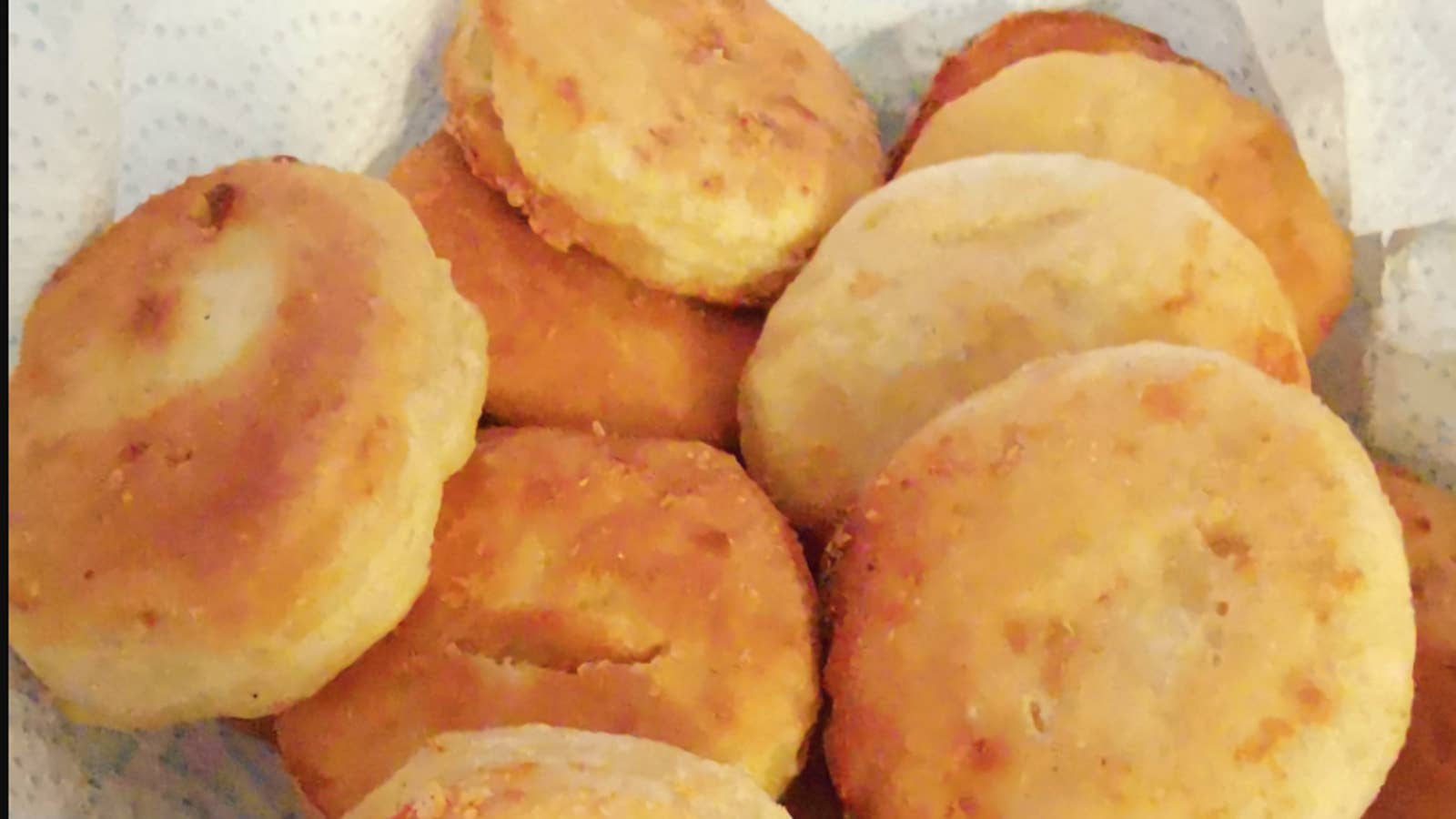 Cheesy Fried Dumplings