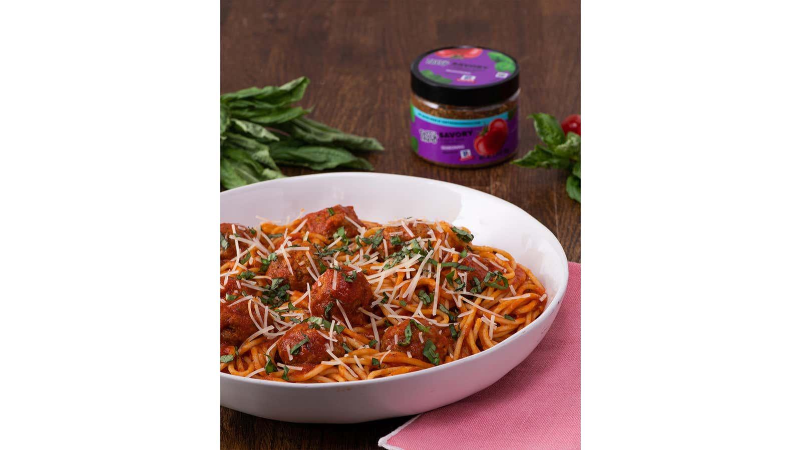 Savoury Spaghetti With Meatballs