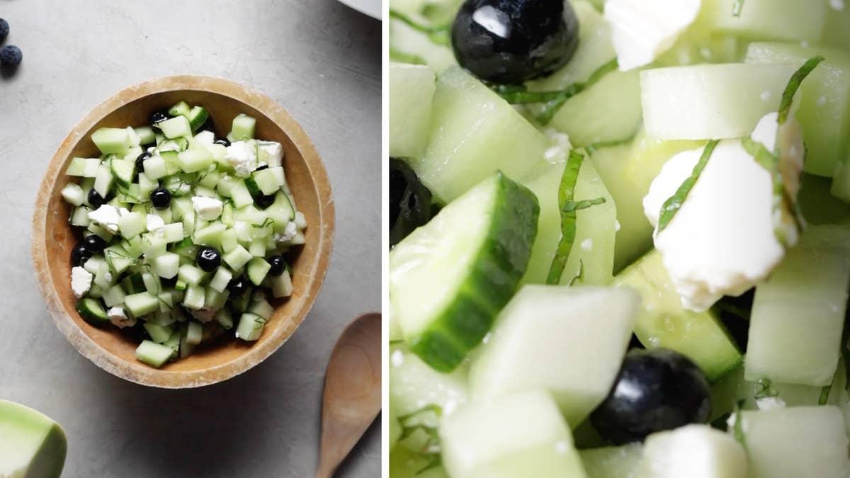 Honeydew And Blueberry Salad