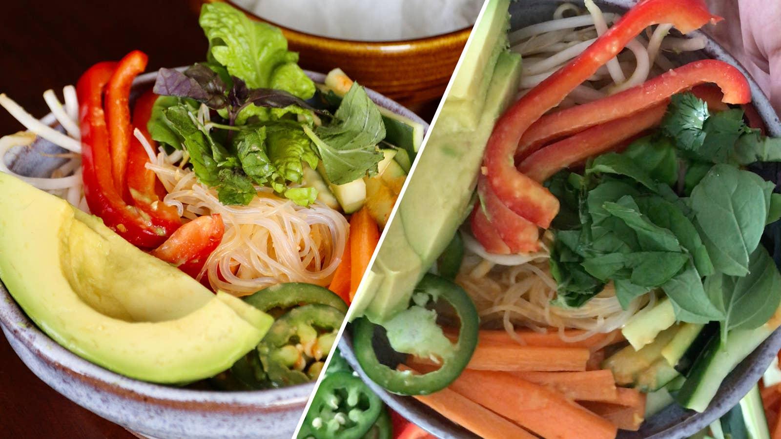 Vegan Spring Roll In A Bowl