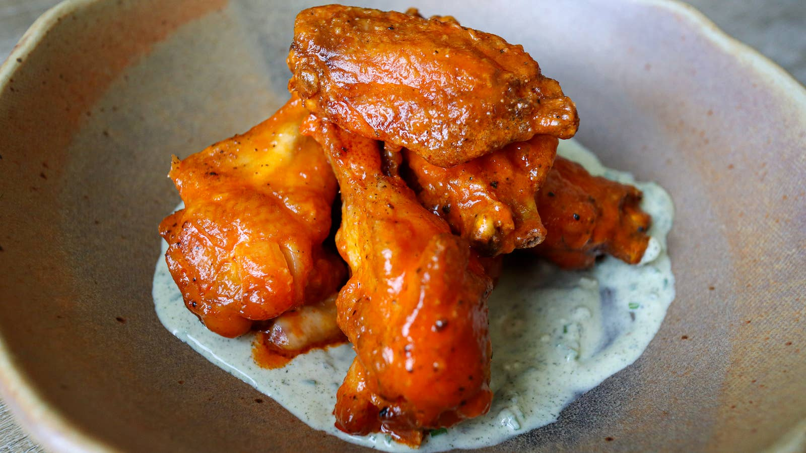 Super Easy No Fry Buffalo Wings And Blue Cheese Dressing