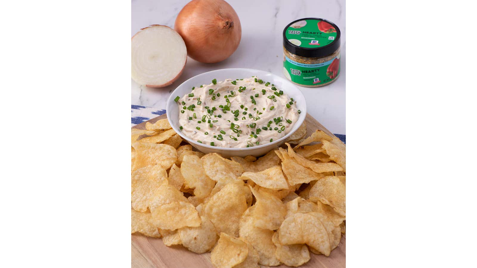 Hearty Onion Dip And Chips