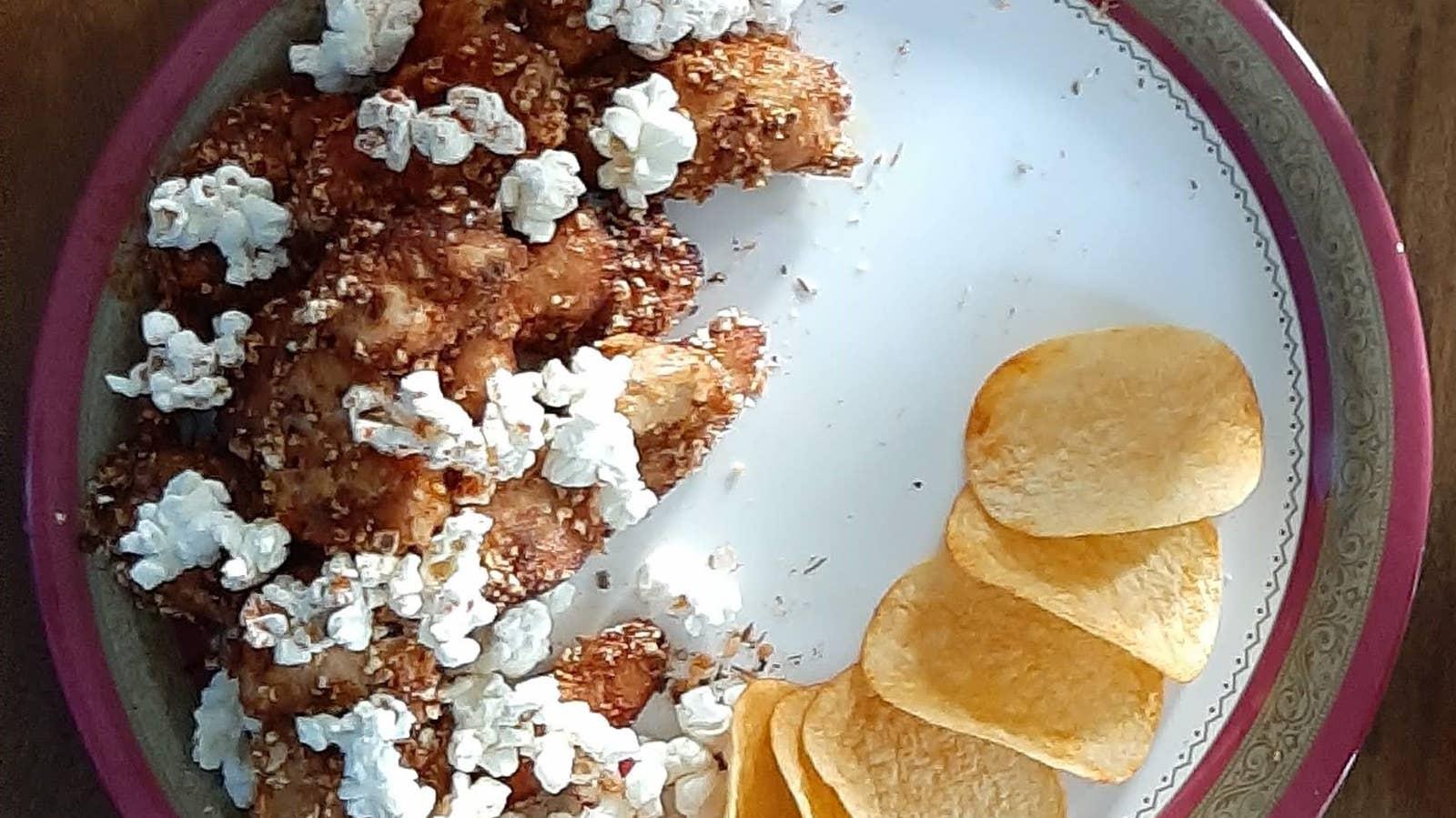 BBQ Popcorn Breaded Chicken