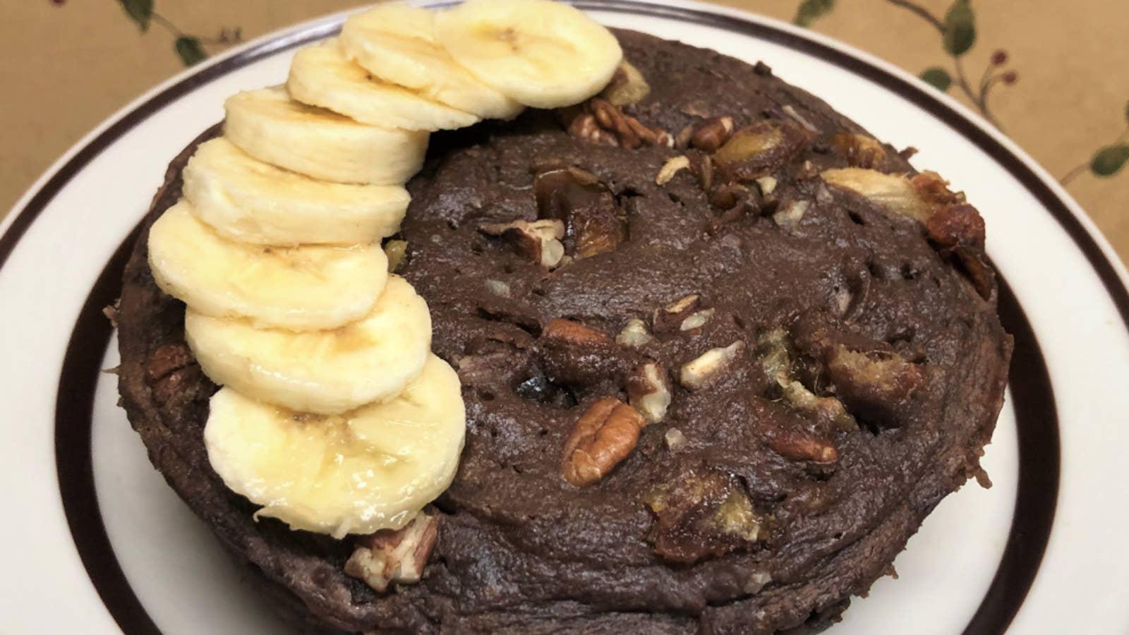 Banana Sugar-Free Microwave Cake