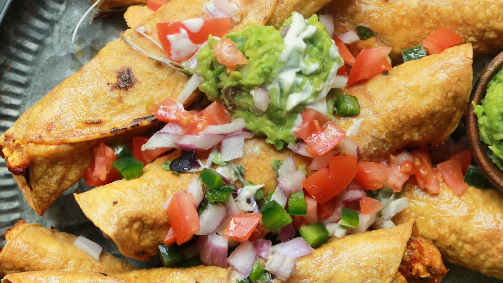 Cheesy Paneer Bhurji Taquitos