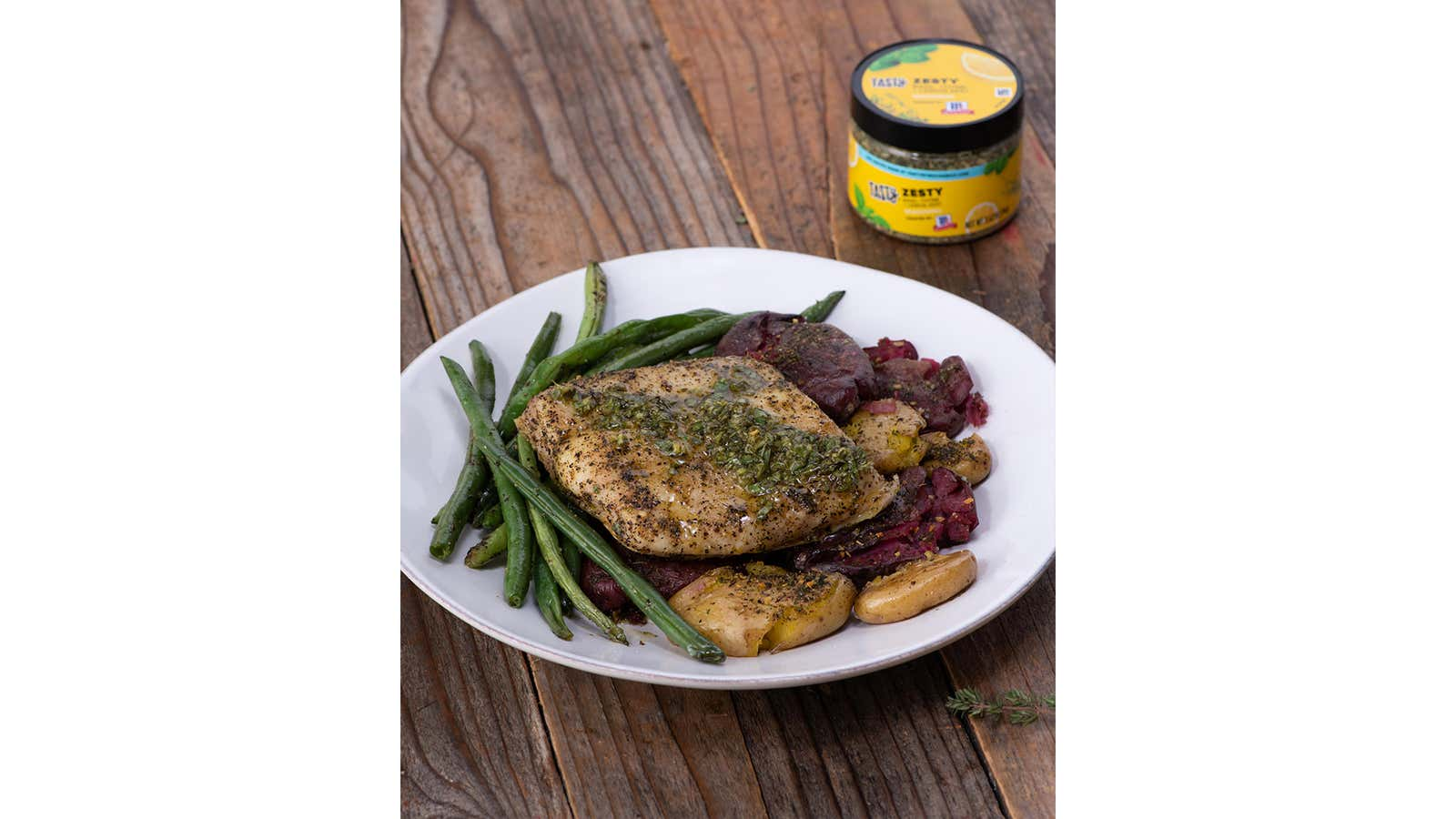 Zesty Halibut And Green Beans