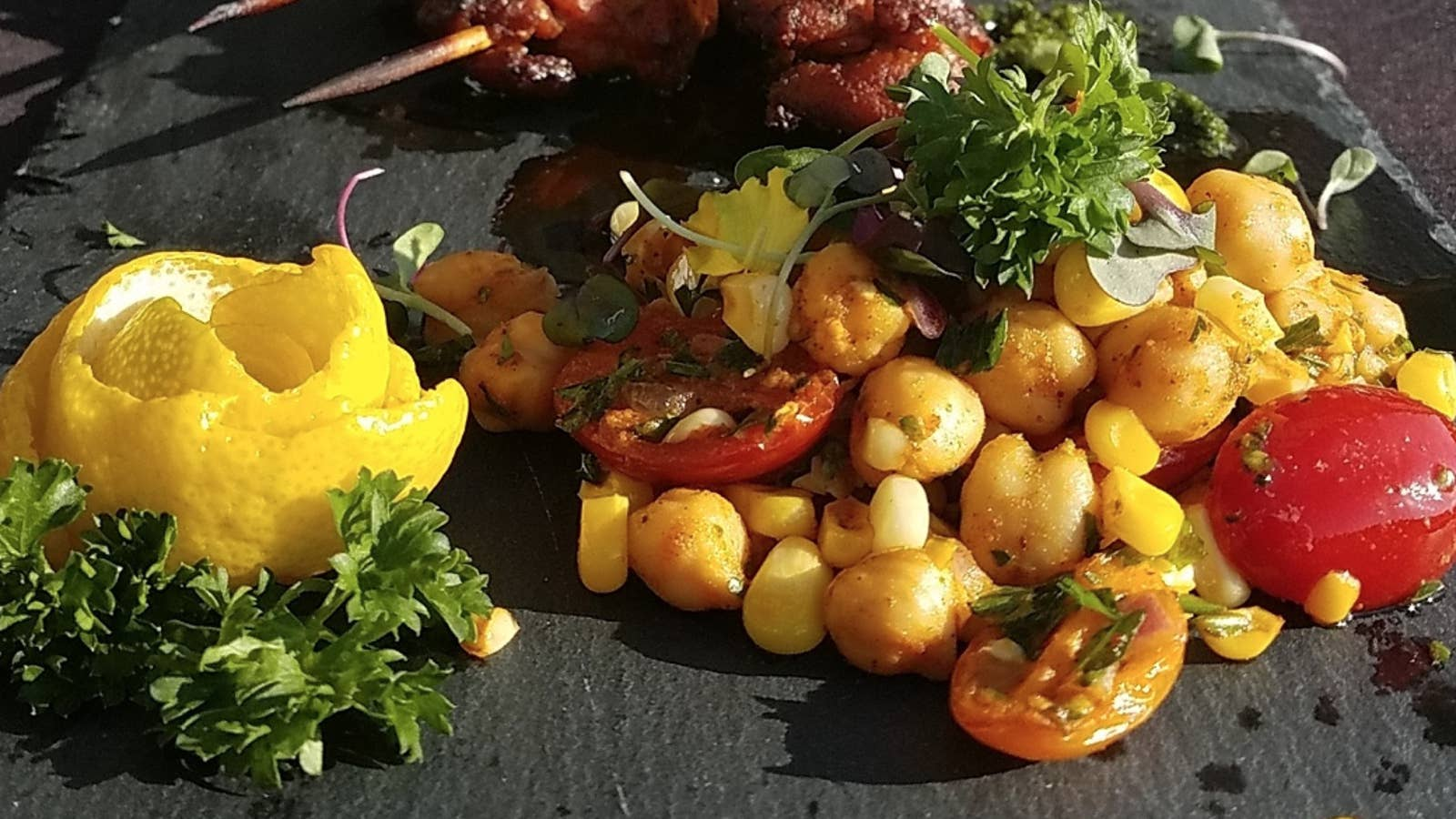 Moroccan Grilled Corn And Chickpea Salad
