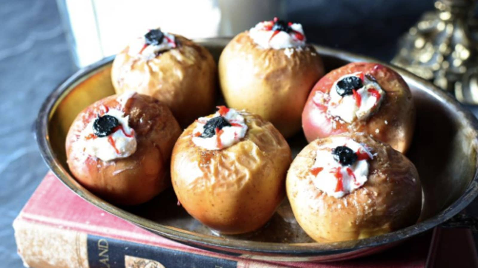 Baked Stuffed Apple Eyeballs