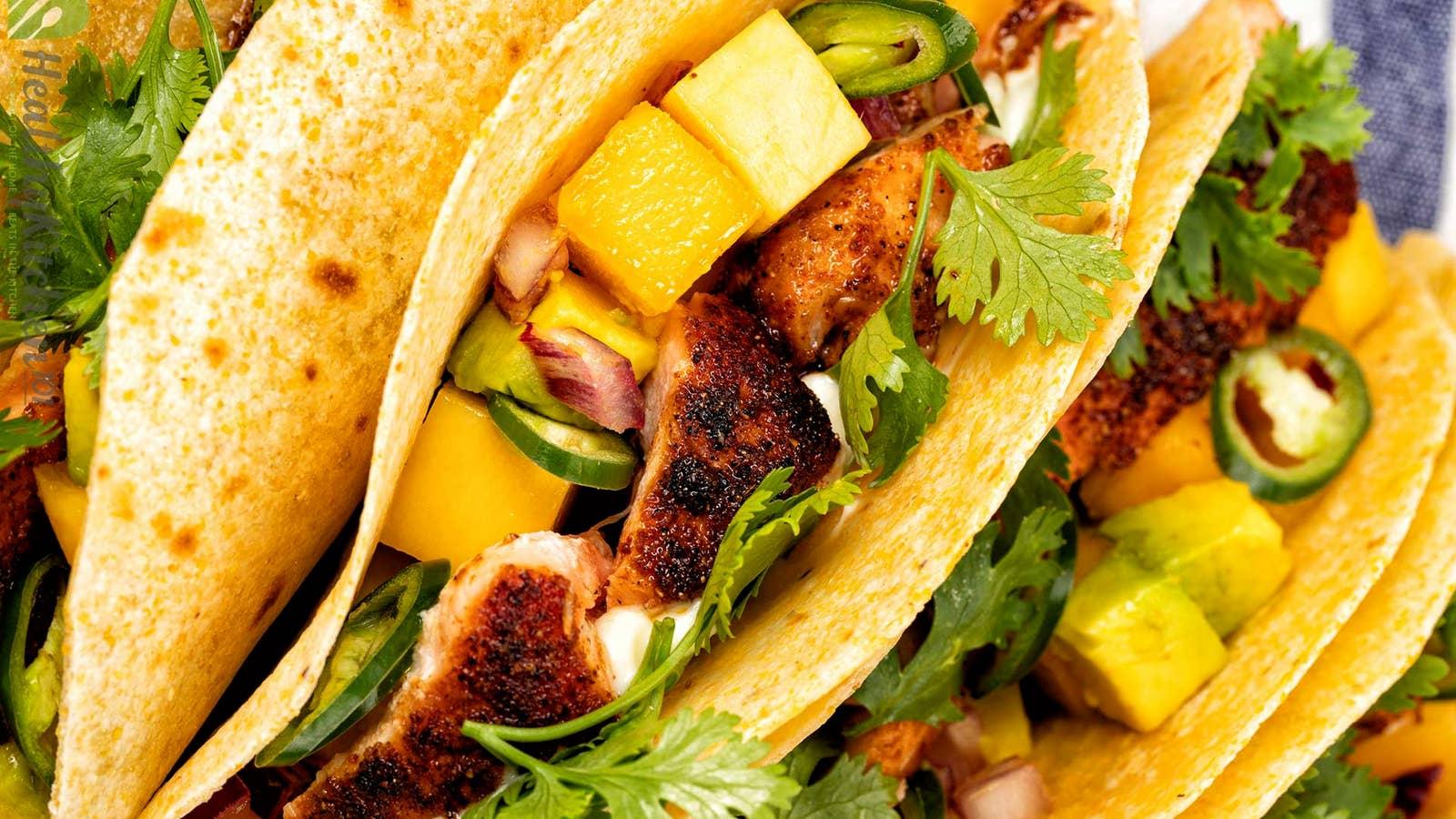 Mango Salsa Fish Tacos