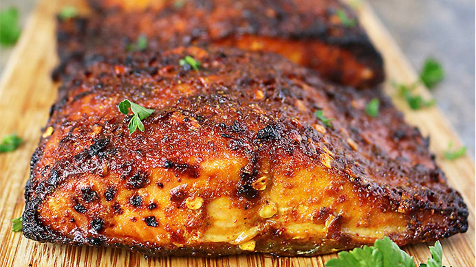 Easy Sweet & Spicy Air Fryer Salmon