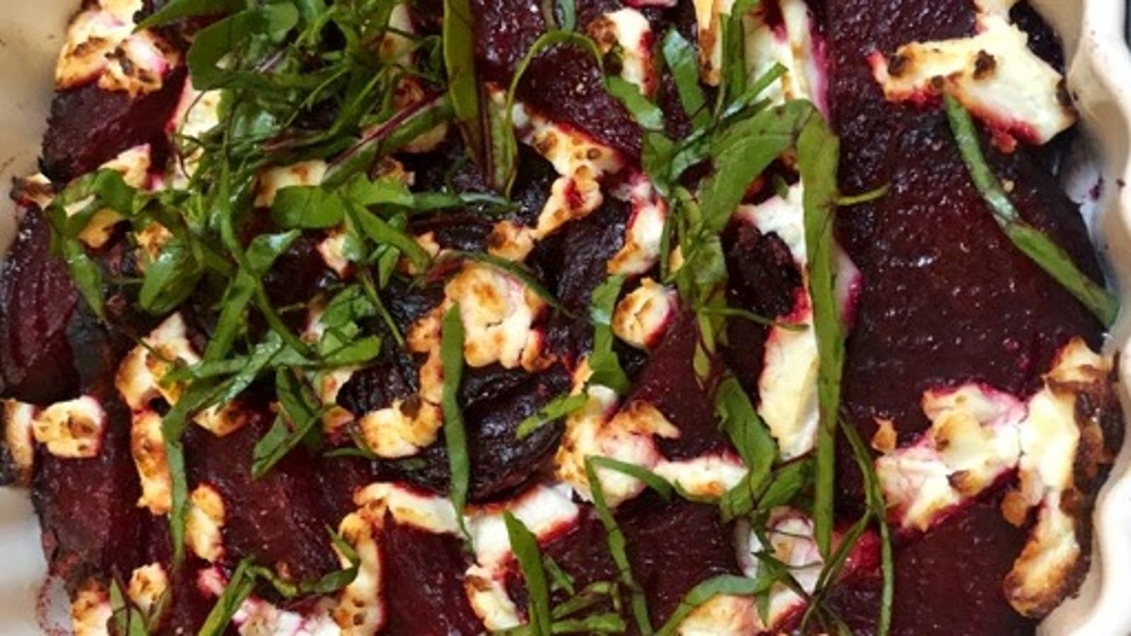 Roasted Beet And Goat Cheese Rose
