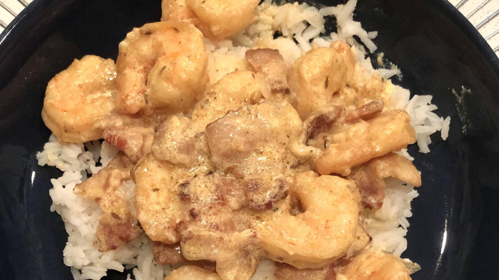 Curry Shrimp A La Flégeau