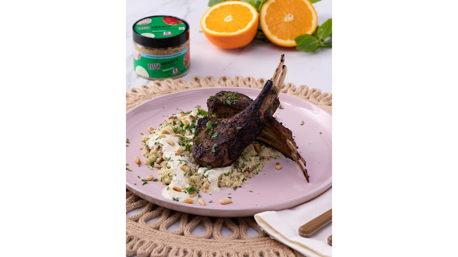 Hearty Lamb Chops With Couscous