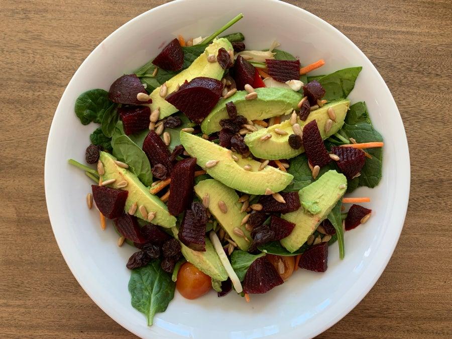 homemade salad horizontally