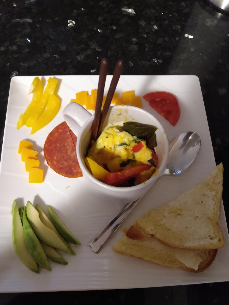Veggie And Cheese Breakfast In A Mug Recipe By Tasty