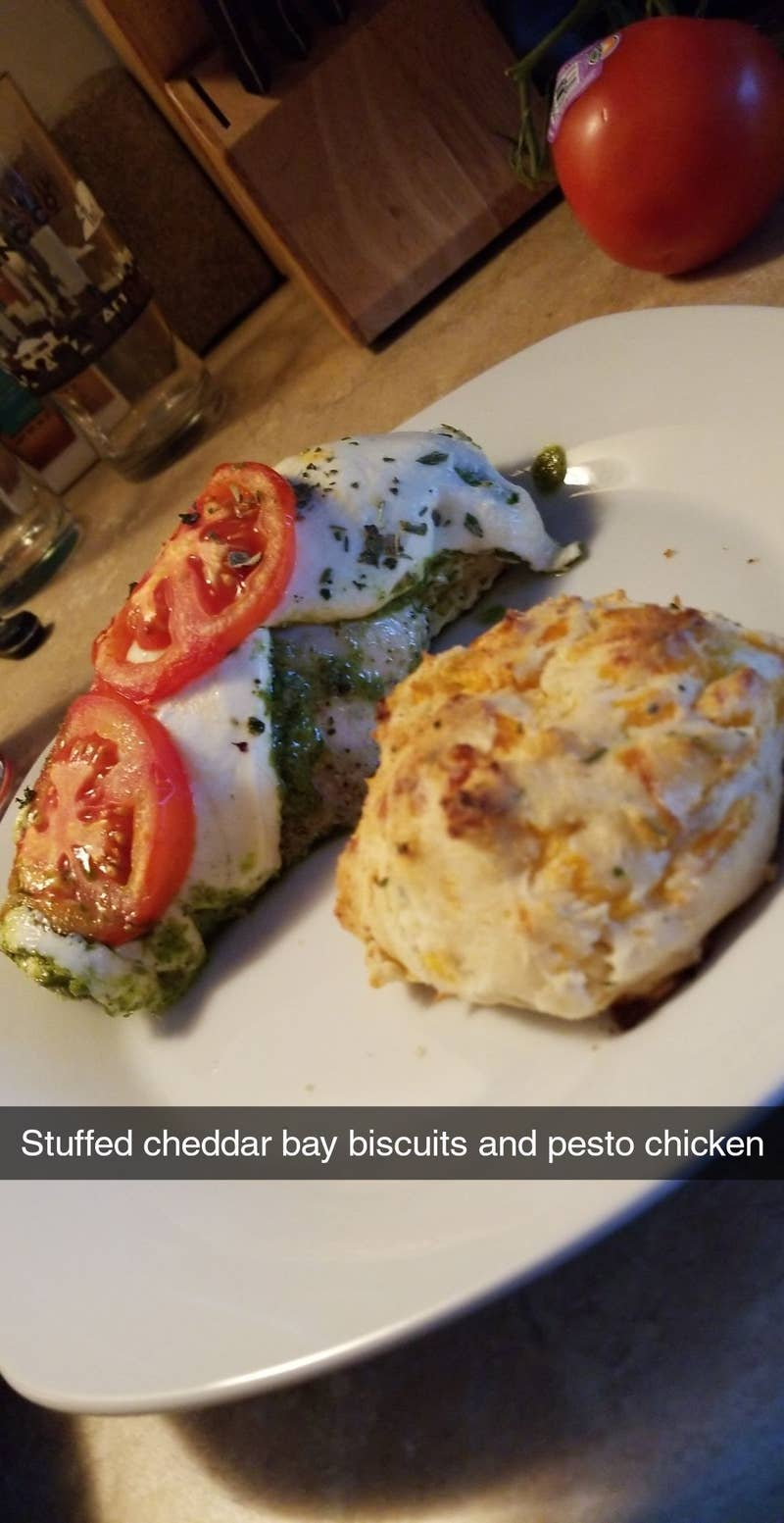 Cheddar Stuffed Biscuits Recipe By Tasty