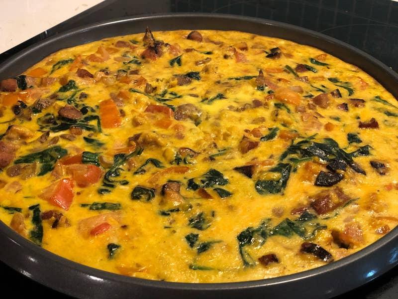 Easy Breakfast Frittata Recipe By Tasty