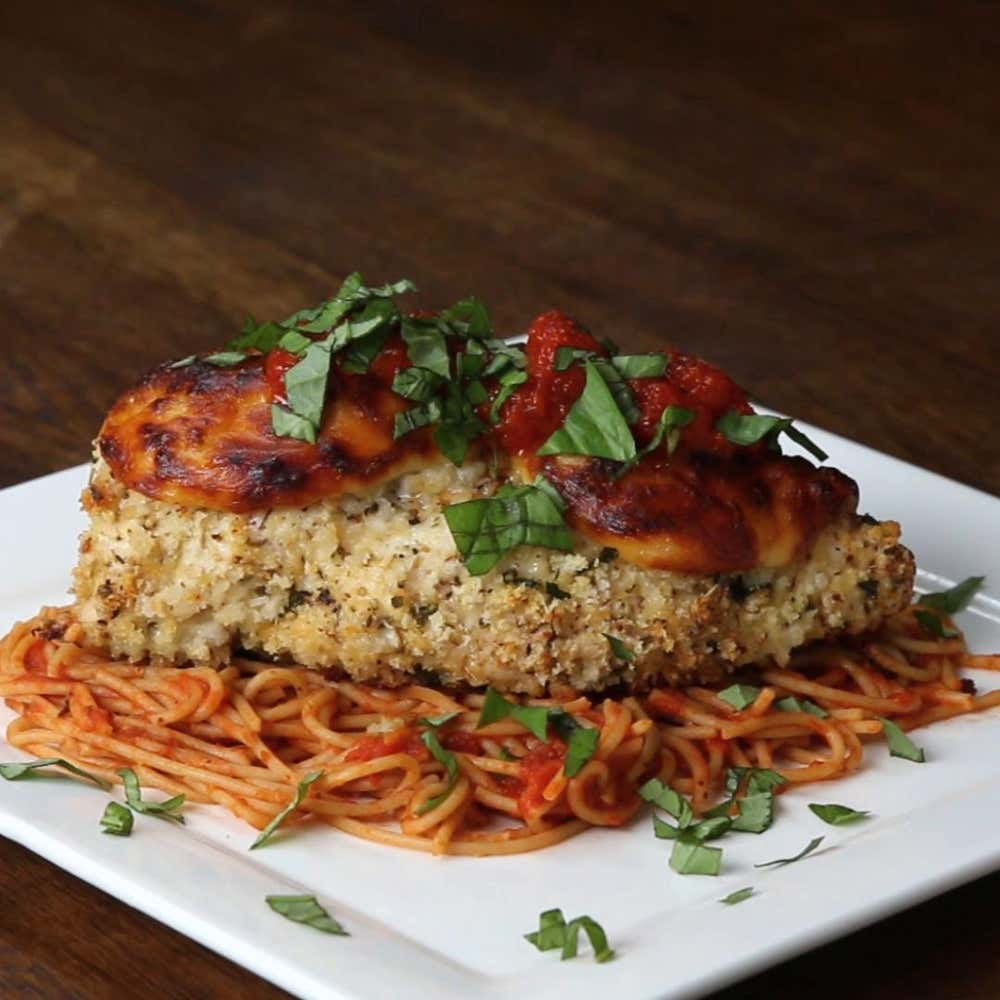 Baked Chicken Parmesan Recipe By Tasty