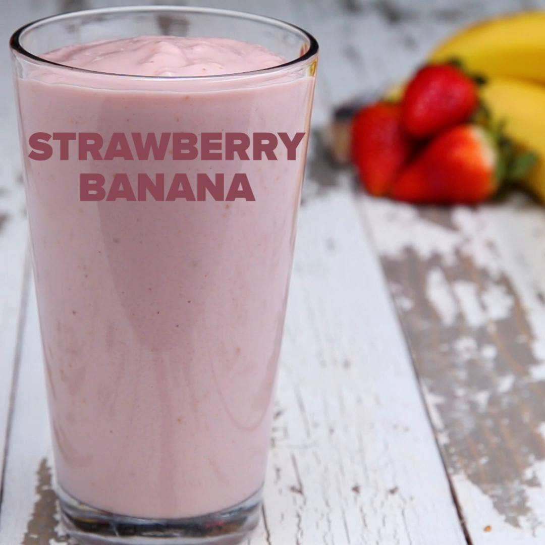 Strawberry Banana Smoothie Meal Prep Recipe By Tasty