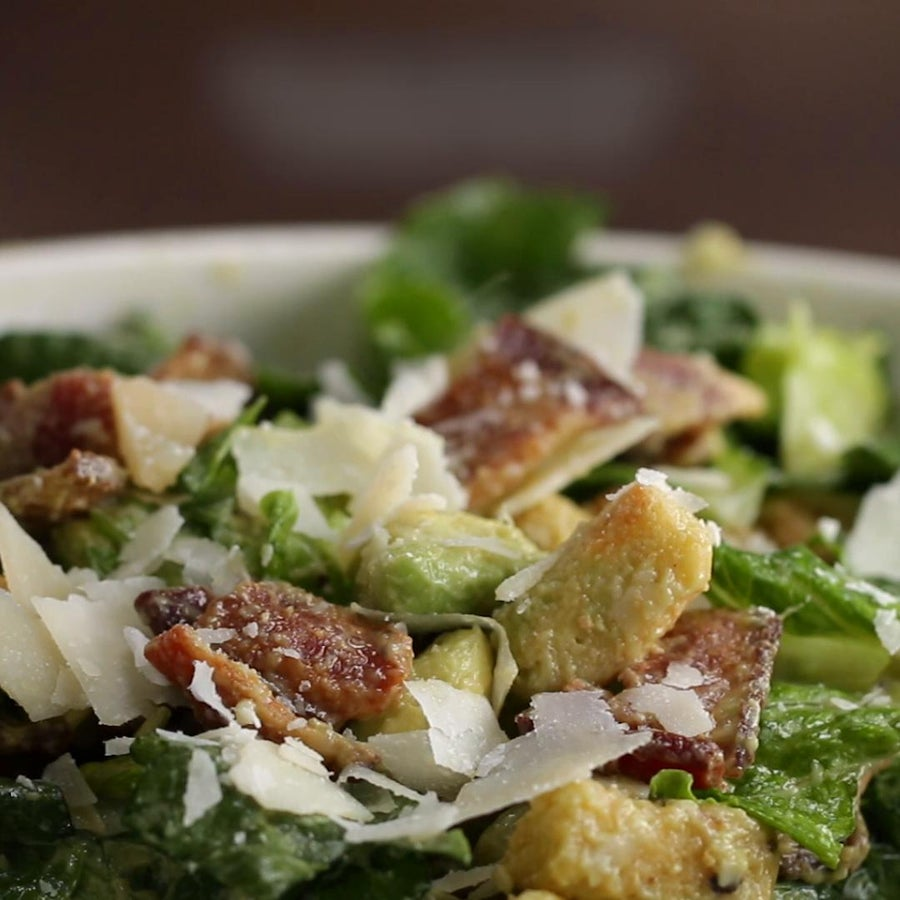 Bacon Avocado Caesar Salad