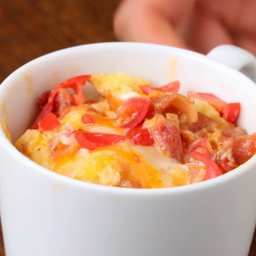 Bacon And Cheese In A Mug