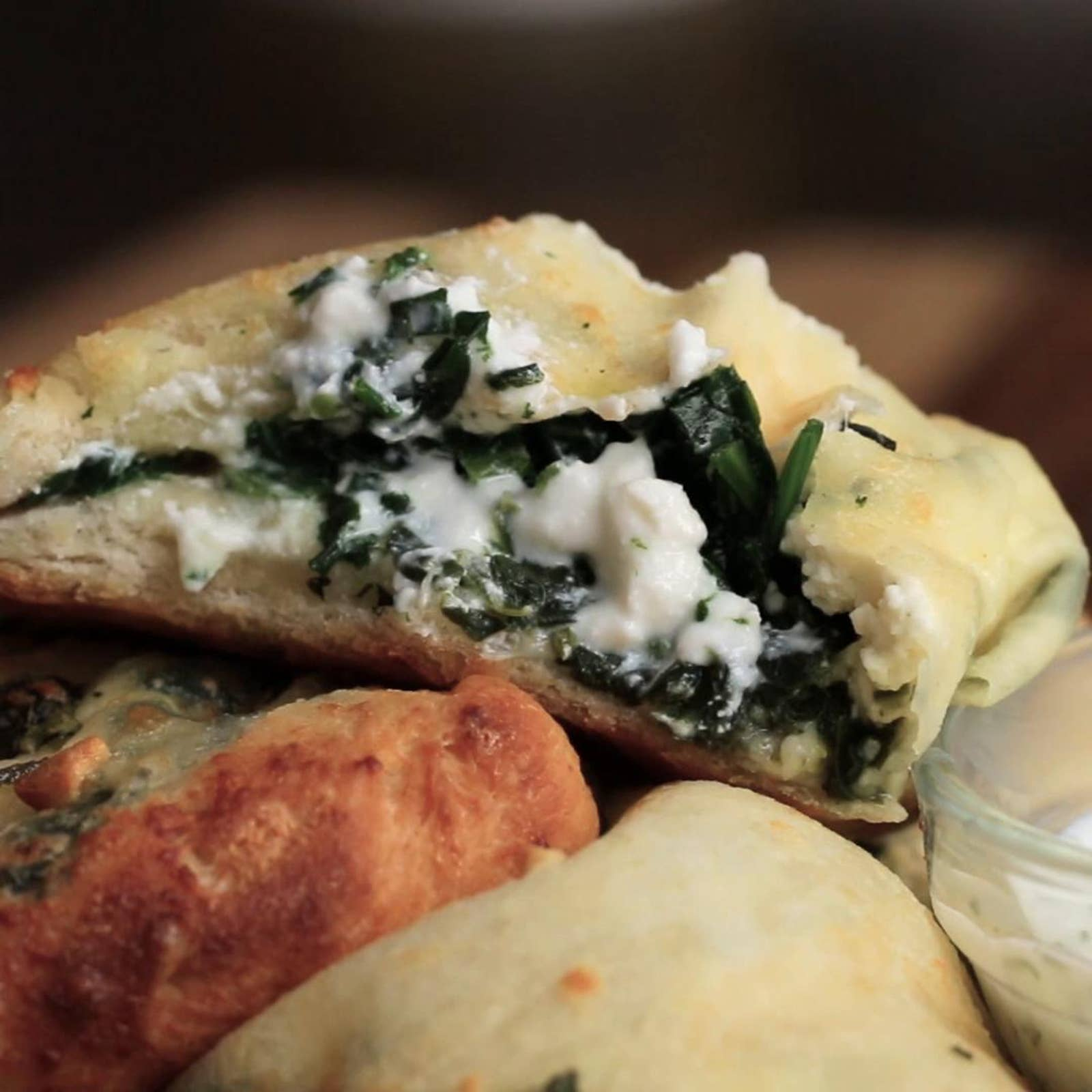 Spinach And Cheese Mini Calzones
