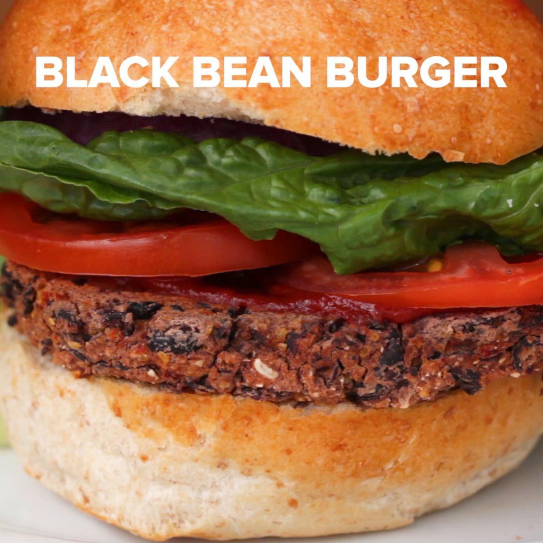 Black Bean Amp Roasted Red Pepper Veggie Burgers Recipe By Tasty