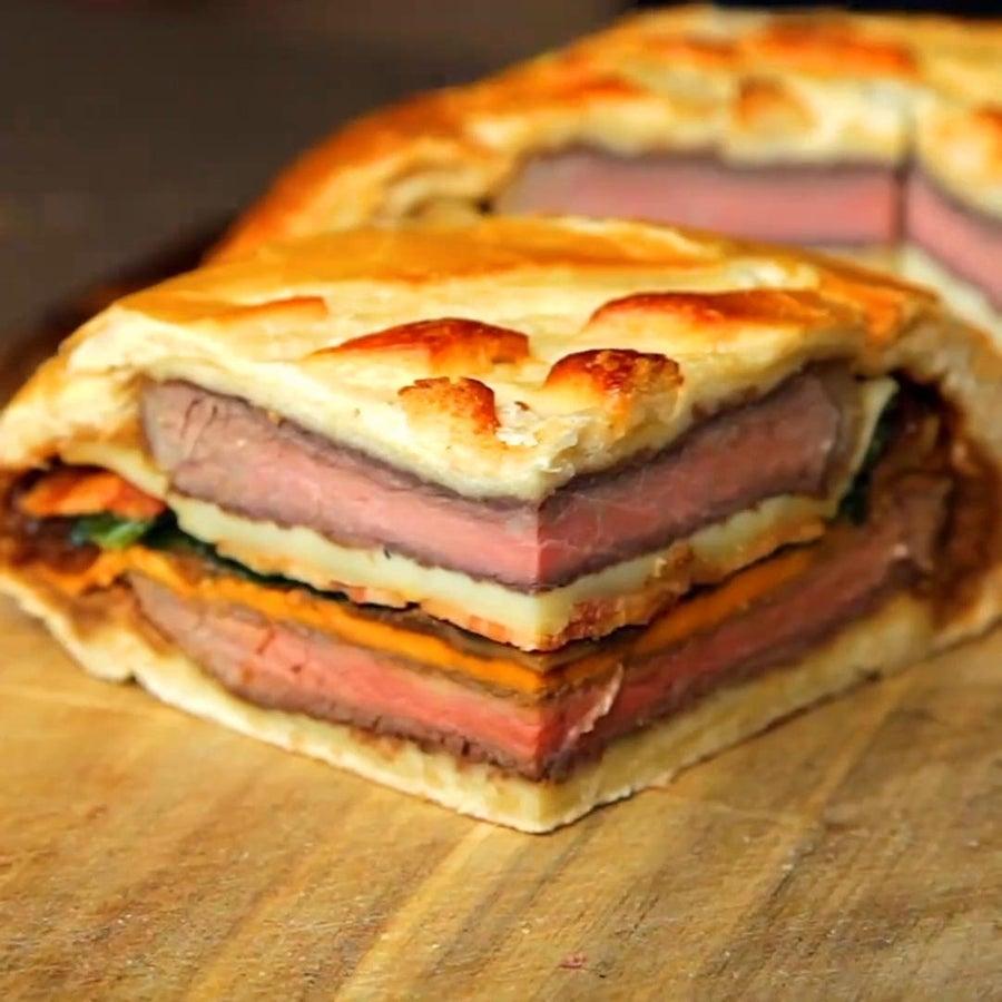 7-Layer Steak Sandwich