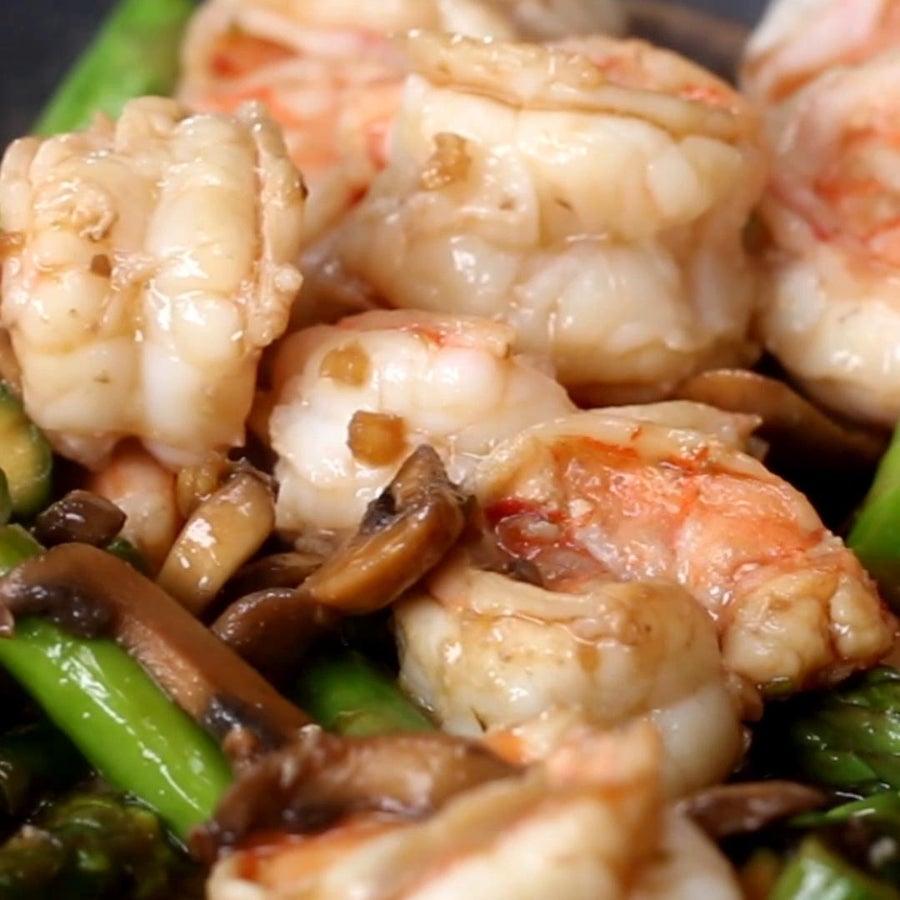 Ginger Mushroom Shrimp Stir-fry