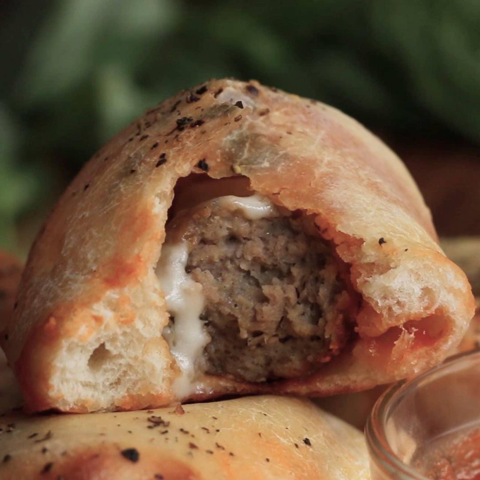 Meatball Parmesan Calzones