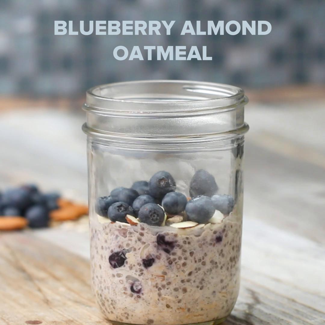 blueberry almond instant oatmeal recipe by tasty