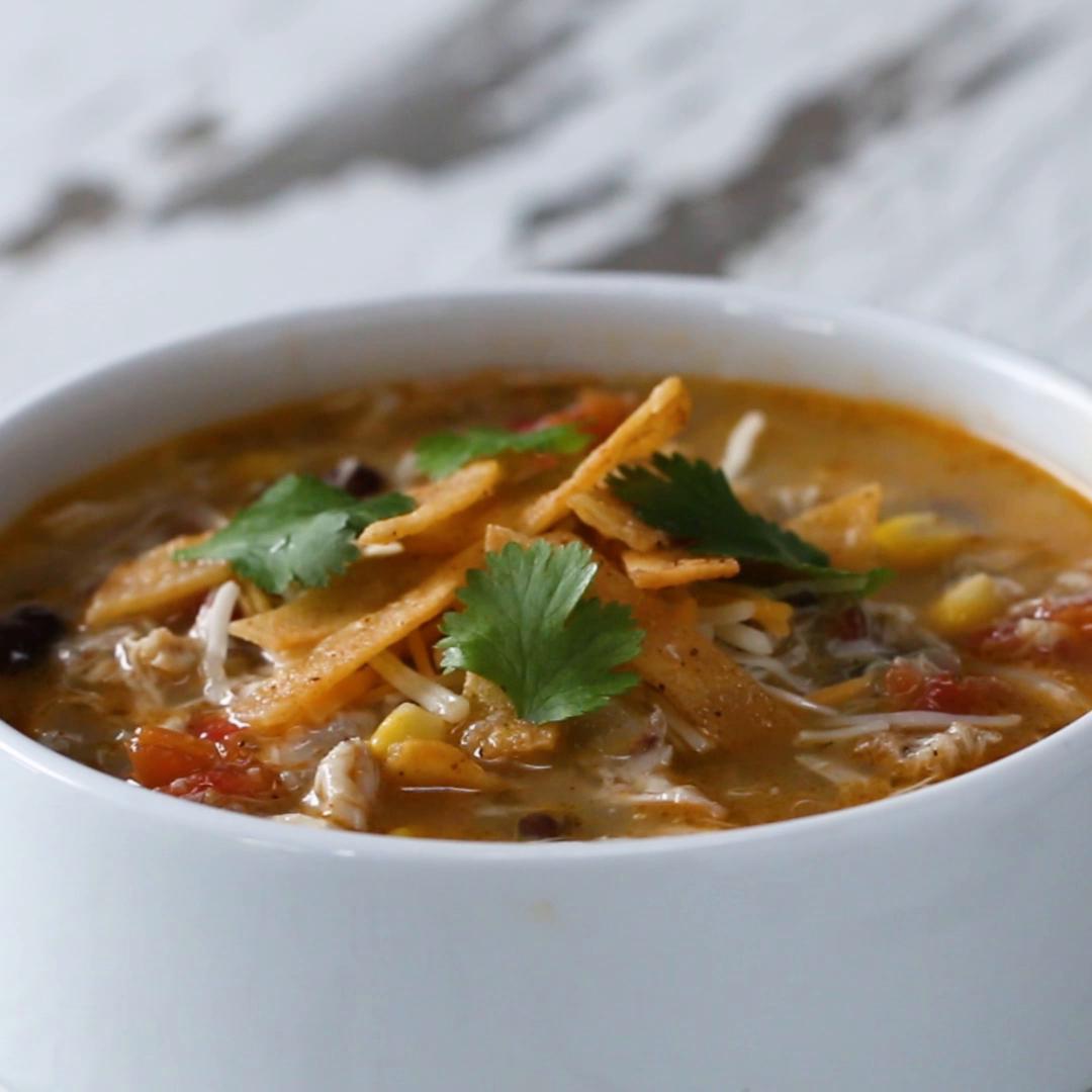 Chicken Tortilla Soup Recipe By Tasty