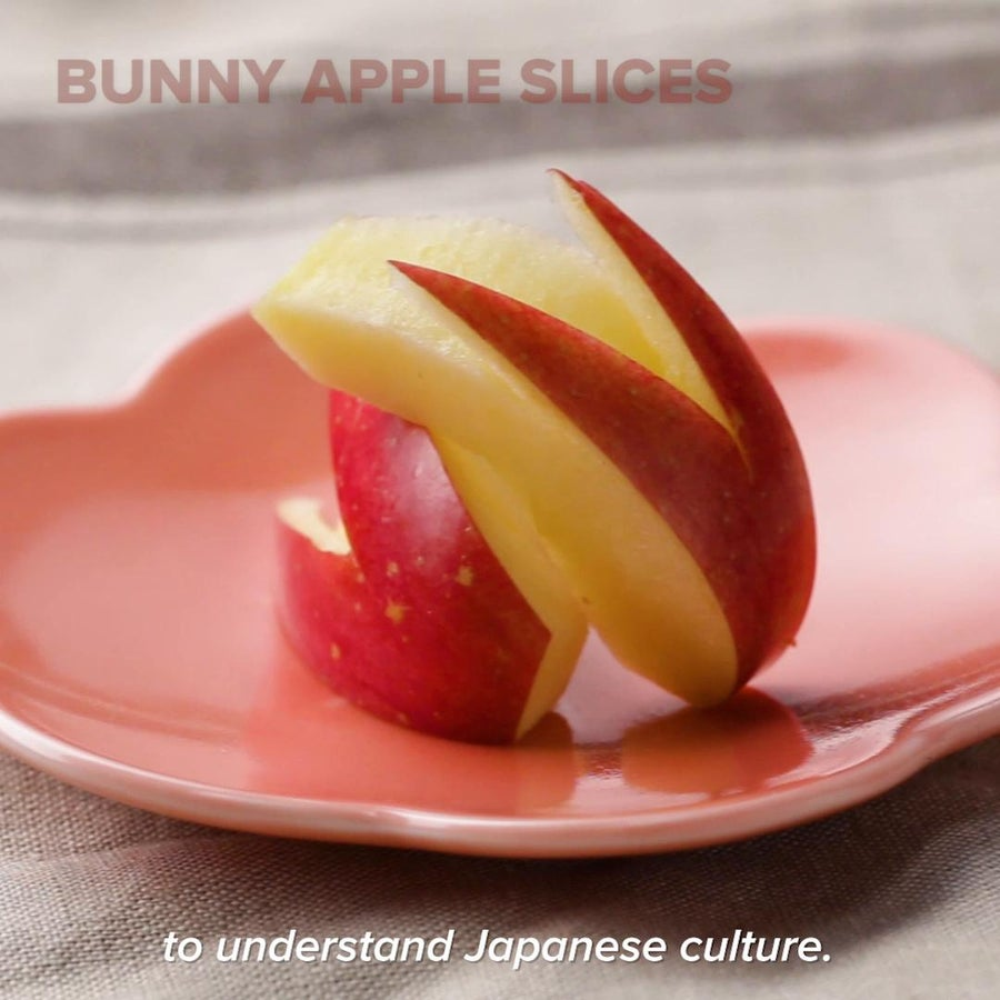 Bunny-Shaped Apple Slices
