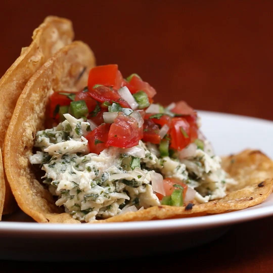 Creamy Cilantro Lime Chicken Tacos Recipe by Tasty_image