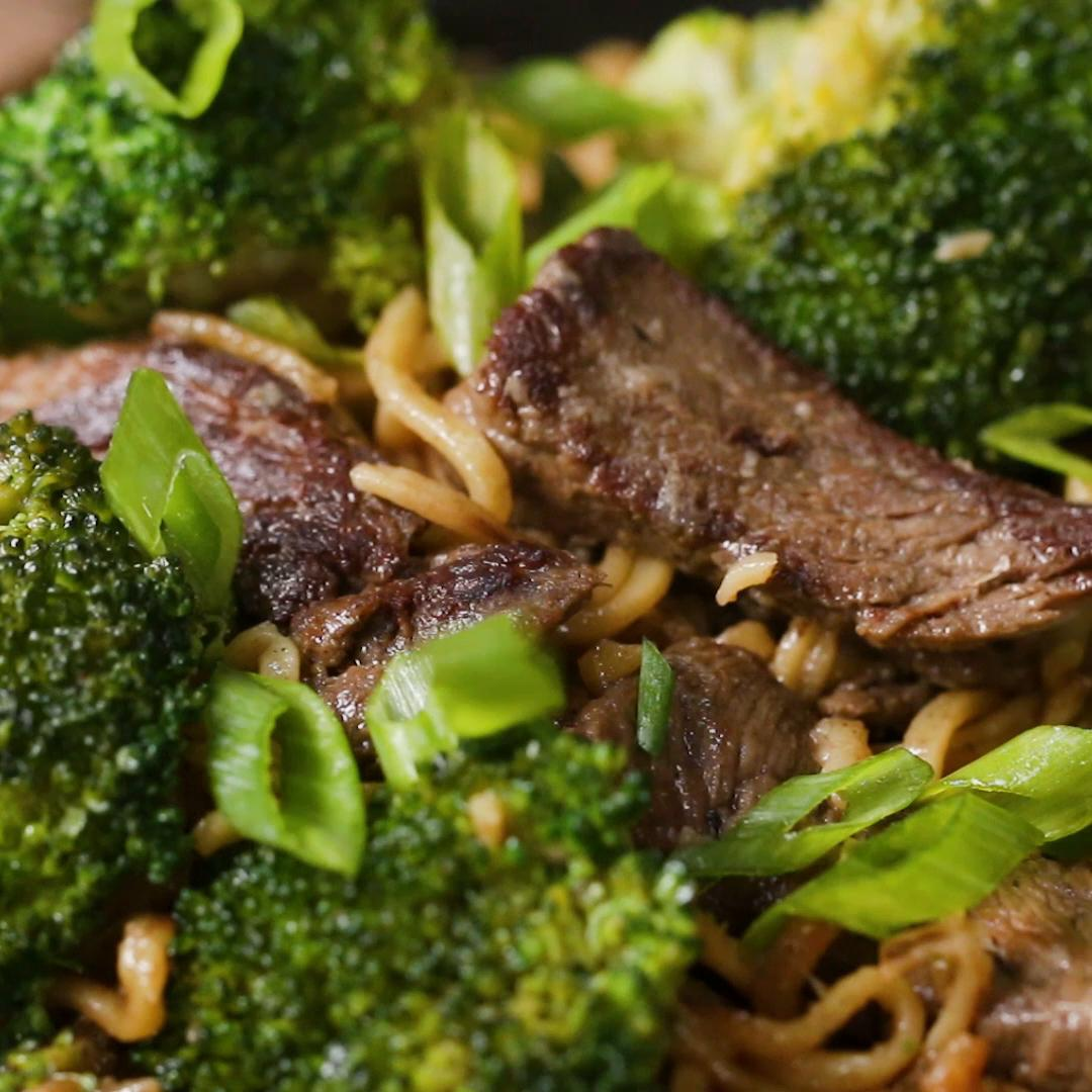 Beef & Broccoli Chow Mein Recipe by Tasty image