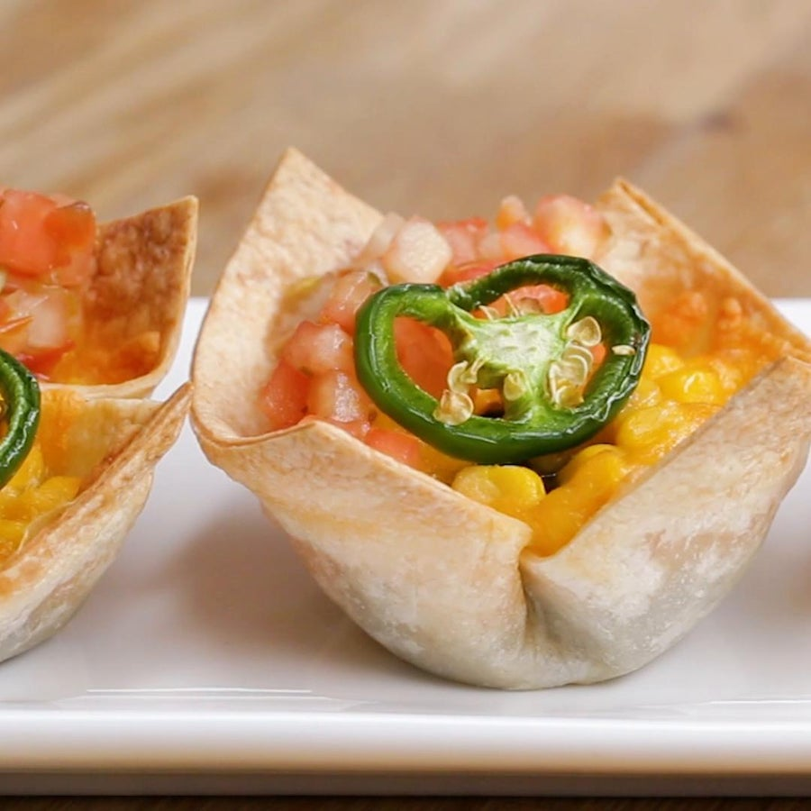 Black Beans And Corn Taco Cups
