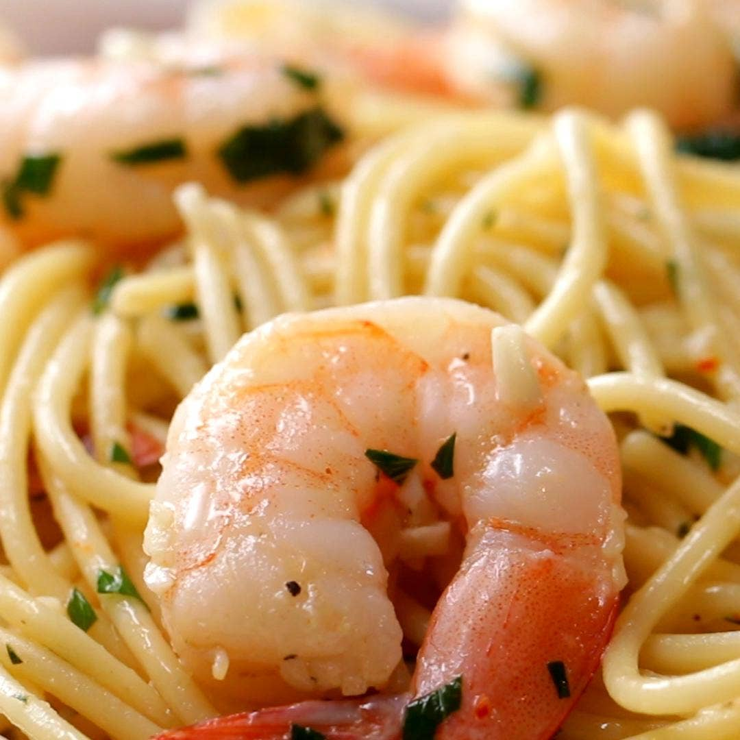 Garlic Shrimp Scampi Recipe By Tasty