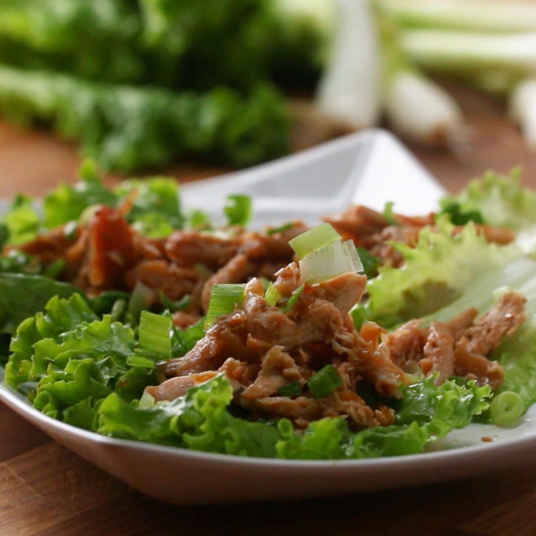 Teriyaki Chicken Lettuce Wraps Recipe By Tasty