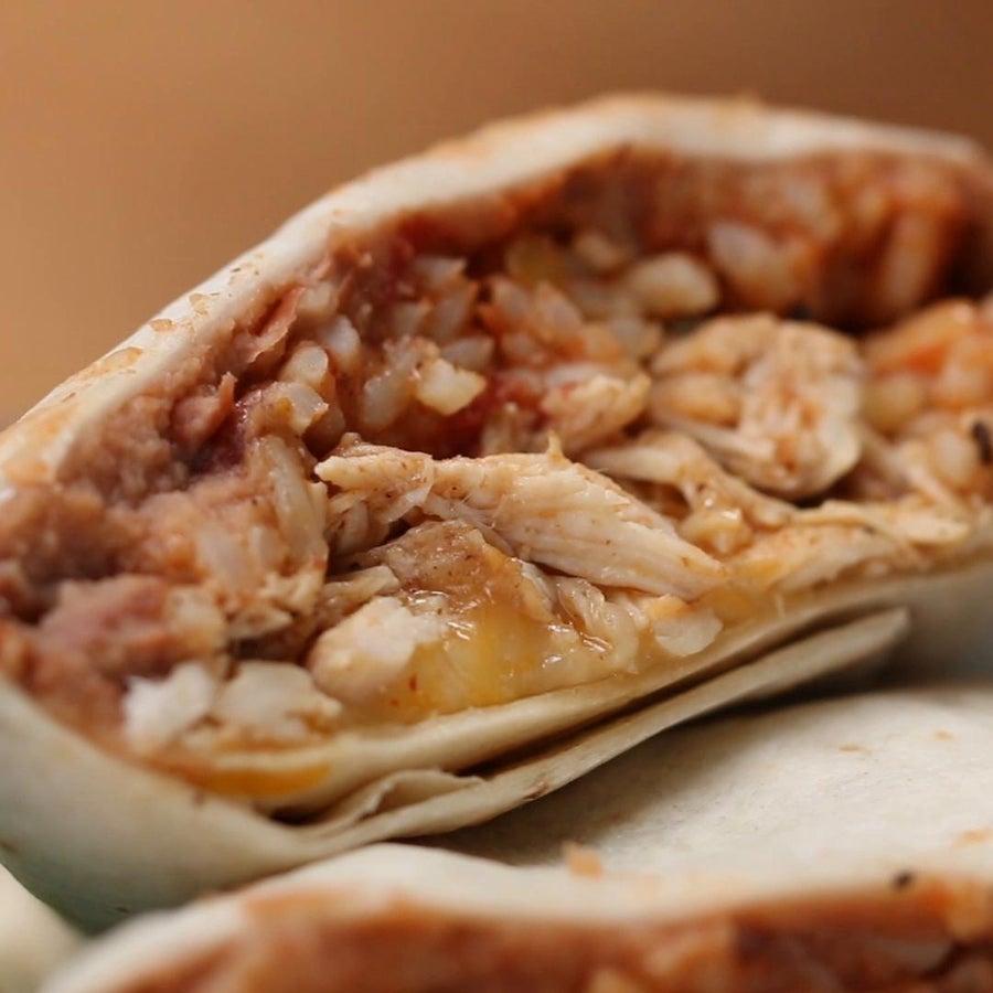 Chicken, Rice & Bean Burritos