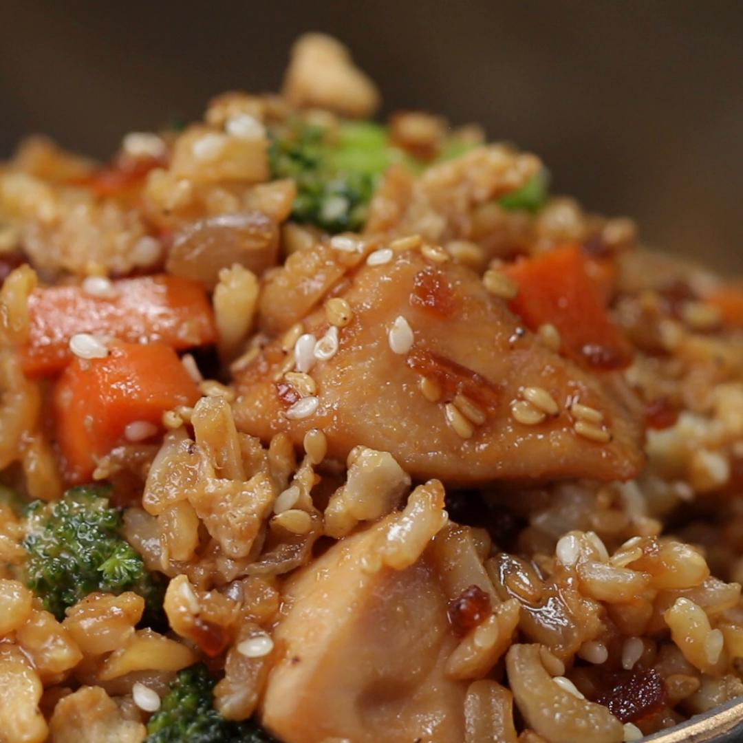 Chicken Teriyaki Fried Rice Recipe By Tasty
