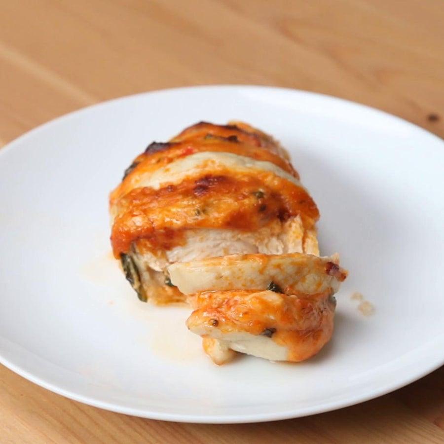 Basil And Pesto Hasselback Chicken