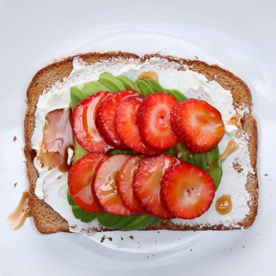 Creamy Strawberry Balsamic Avocado Toast